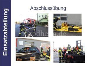 Abschlussübung in Rosbach