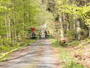 Wasserförderstrecke zur Brandstellenpumpe