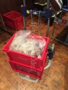 Kisten voller Blutspenden