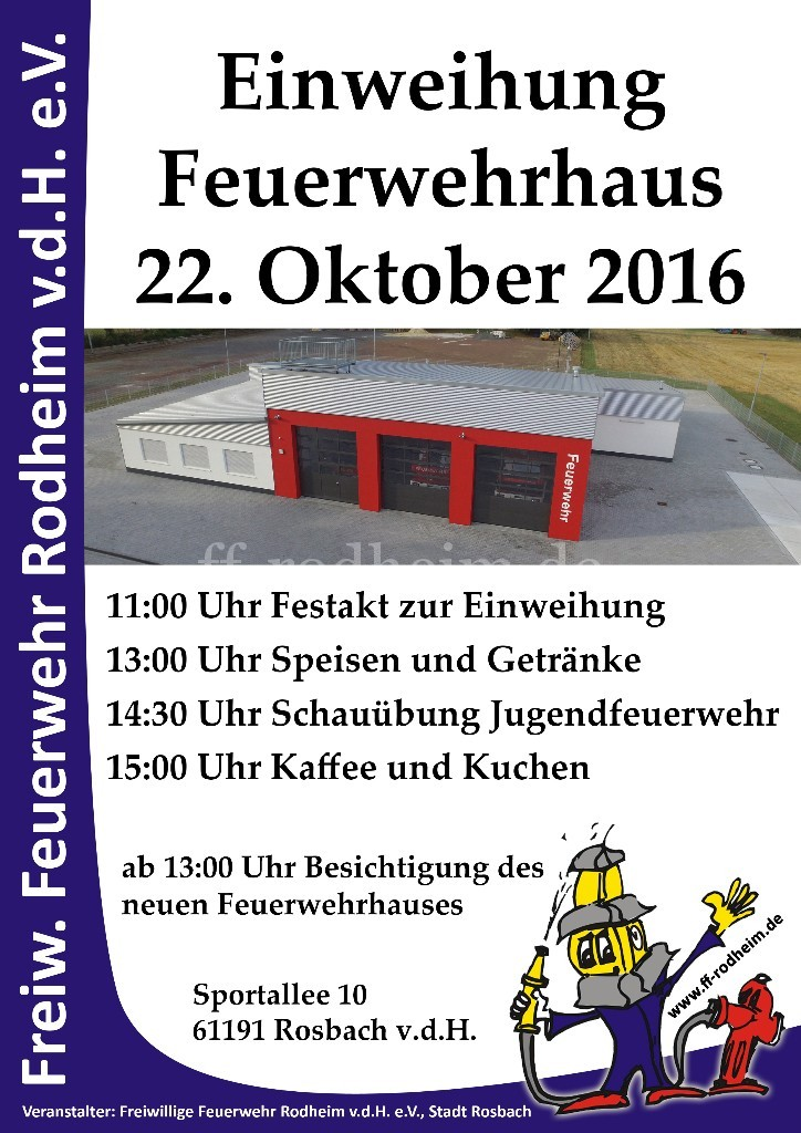 Plakat Einweihung Feuerwehrhaus
