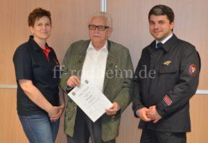 70 Jahre Mitgliedschaft im Verein - Wilfried Wall